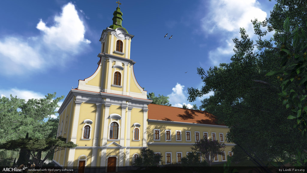 Reconstruction of the Church of Iharos, Hungary
