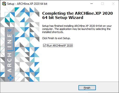 ARCHLine.XP Installation Complete