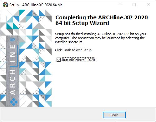 ARCHLine.XP Installation Complete